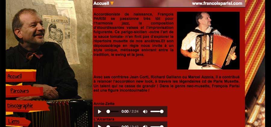 François Parisi : site vitrine HTML