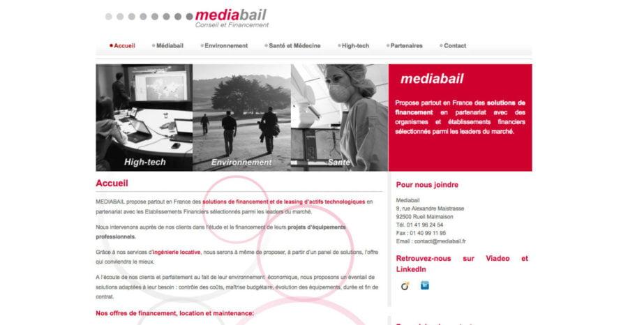 Site internet Médiabail