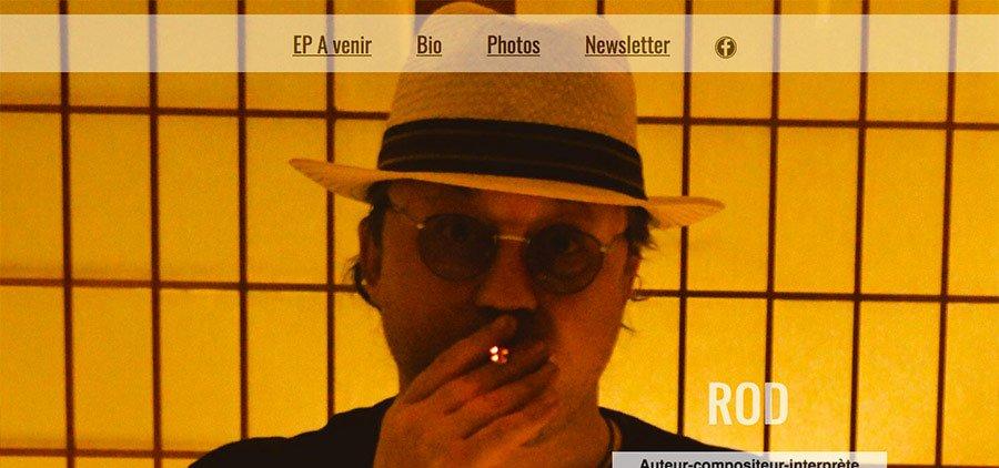 Rod-musique : site internet responsive
